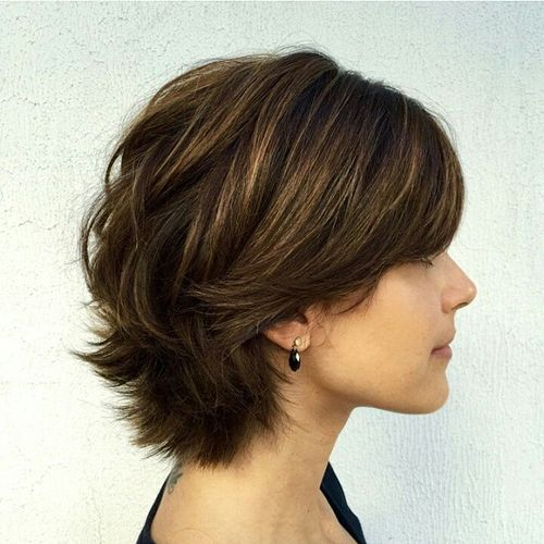 short-layered-haircut-for-thick-hair 2019